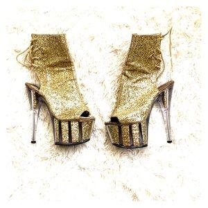 Sexy Pleaser glitter boots